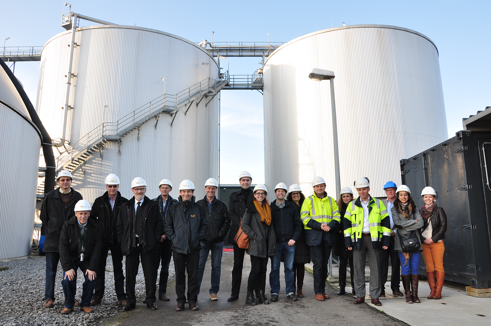 Productive visit to a biogas plant with Brussels