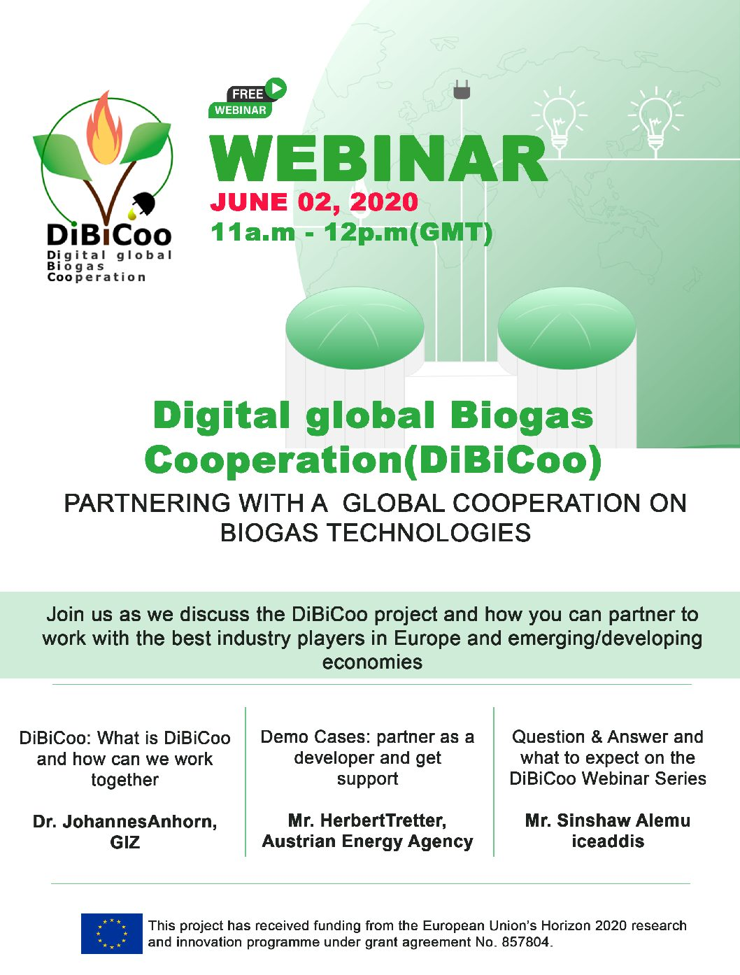 DIBICOO webinar 'Partnering with a global cooperation on biogas technologies'