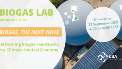 Biogas Lab Webinar Series (4): 'Performing  biogas feedstocks in a climate-neutral economy'